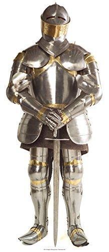 steller von Ritter in glänzender Rüstung (Rüstung)