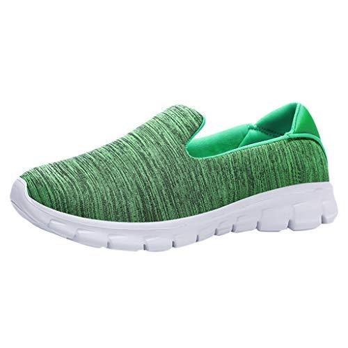 Womens gemütlich Fashion Casual Solid Sport atmungsaktiv leichte Slip On Schuhe Turnschuhe Edel Stiletto