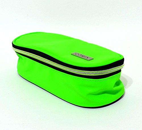 Astuccio scuola comix ovale organizzato reflective verde fluo offerta nuovo
