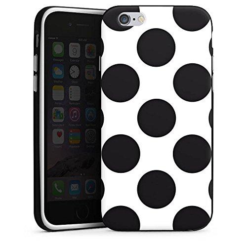 Apple iPhone X Silikon Hülle Case Schutzhülle Punkte Dots Rockabilly Silikon Case schwarz / weiß
