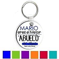 Llavero Abuelo/Personalizado/Regalo Original Abuelito/Cumpleaños/Dia del Padre/Aniversario/Navidad