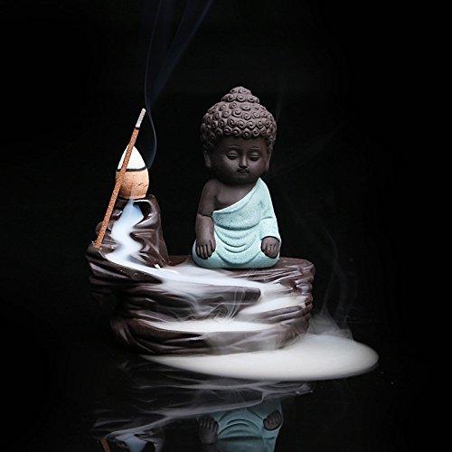 Yuhan Boutiques Zen creative Home decor riflusso Bruciatore di incenso Incensiere Ceramica Yixing argilla Viola Budda portaincensi Base Turibolo