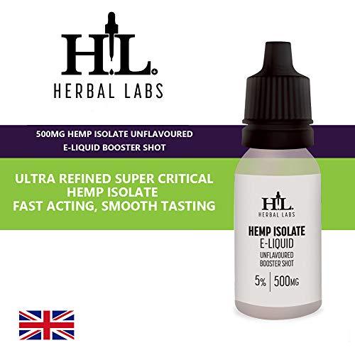Rein Bio Hanf Isolate Vape E-Liquid Auffrischungsimpfung ohne Aroma 5% 500MG - 10ML Flasche - Nikotinfrei - Synergie Tropfen