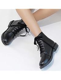 &ZHOU Botas otoño y del invierno botas cortas mujeres adultas 'cargadores de Martin Knight botas a20 , black , 42