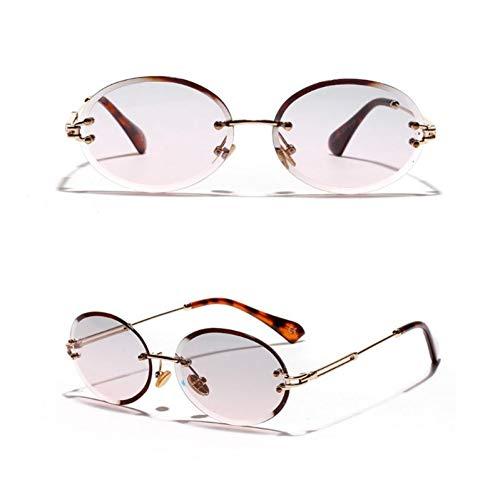 CCGKWW Design Randlose Sonnenbrille Modetrend Hot Pop Unisex Schutz Brillen Damen Herren Outdoor Fahren Ohne Rahmen Metall Uv400