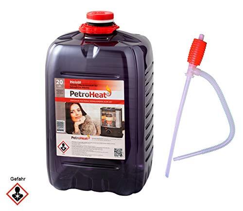 CAGO Petroleum Kanister, für eine saubere Verbrennung - 20l Liter mit Handpumpe (Heizöl)