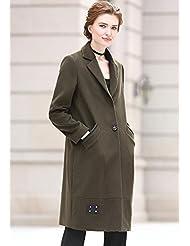 YRF Robe de l'automne. Manteau de laine de laine. Veste manches longues de couleur unie. Simple boutonnage manteaux. Dans le trench-coat long