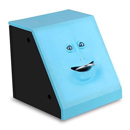 Ahorro de Dinero Banco Banco de Monedas Ahorro de Dinero automático Caja Banco de Cara Banco Piggy (Azul)