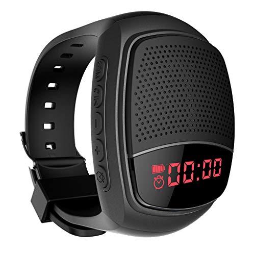 Audio-480 Stereo (Bluetooth Lautsprecher,Mini Wrist Stereo Sport Lautsprecher,Sportuhr Audio Outdoor Lauf Kleine Lautsprecher Karte Mini Anti-verlorene Intelligente Lautsprecher (Schwarz))