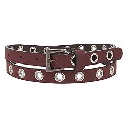 Aditi Wasan Genuine Leather Maroon Ladies Belt