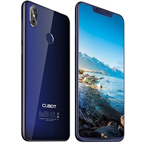 Cubot P20 4G-LTE Dual SIM Smartphone ohne Vertrag Android 8,0 Ultra dünn 6.18″(19:9) In-Cell Screen FHD Display (2246×1080px) mit 4000 mAh Akku 4GB RAM + 64GB ROM Handy Ohne Vertrag Blau
