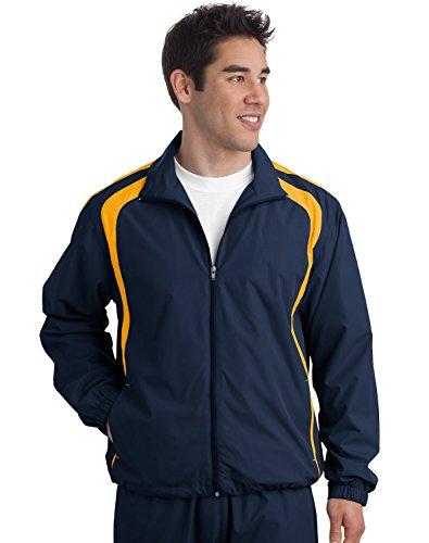 Sport-Tek® Colorblock Raglan Jacket. JST60 True Navy/Gold 3XL -