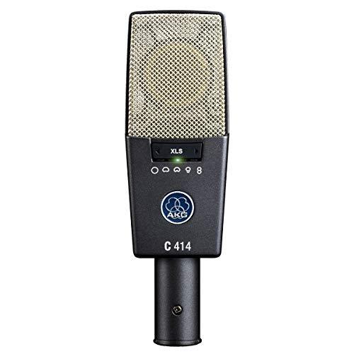 AKG C414 XLS - Micrófono (Studio, 20-20000 Hz, Cardioid, Alámbrico, XLR-3, 300g) Gris, Plata