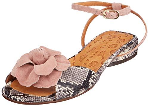 Chie Mihara Violeta Sandali con Cinturino alla Caviglia Donna, Grigio (Amazon Ante Vintage Asfalto), 39 EU