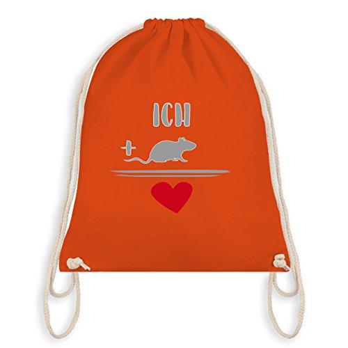 Statement Shirts - Ratten-Liebe - Unisize - Orange - WM110 - Turnbeutel I Gym Bag (Liebe Ratten)