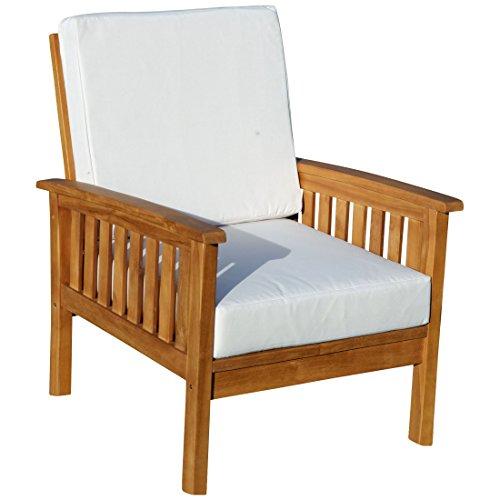ASS Teak Loungesessel Stuhl Sessel Lounge Sofa Modell: Punta Cana von (Set Sofa Teak)
