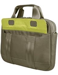 """Be.ez - 100832 - LE Rush Sacoche en nylon pour MacBook Pro et ordinateurs portables 13"""" - Lime Park ( Brun/Vert Citron)"""