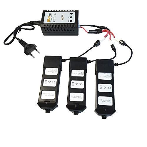 Goolsky mjx bugs 5w caricabatterie bilanciamento batteria con 3 batterie per insetti mjx 5w wifi fpv b5w drone