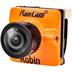 "HankerMall FPV Cámara RunCam Robin 700TVL Lente de 1,8 mm PAL/NTSC 1/3""CMOS 4: 3 conmutable Micro de 160 Grados de FPV de 160 Grados para FPV Quadcopter Racing Drone Orange"