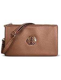 c61cc5197815 Craze London Small Wristlet Purse Clutch with Shoulder Strap Cross Body  Handbags for Women