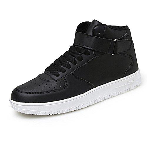 Kivors® Sportschuhe Turnschuhe Damen und Herren Air Straßenlaufschuhe Course hohe Sneaker Gym Sport Fitness Laufschuhe neue Schuhe für Trainer Schwarz