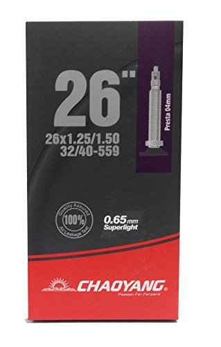 Chaoyang Europe Super Lite Tube Schlauch, schwarz, 26x 1,25/1,50FV (Lite Presta Ventil)