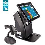 Windows 12' All-in-ONE Kassensystem für Einzelhandel, Kiosk, Imbiss, Strassenverkauf, Laden: Touschscreen, Bondrucker, Kundenanzeige, Barcodescanner. GDPdU, GoBD, INSIKA