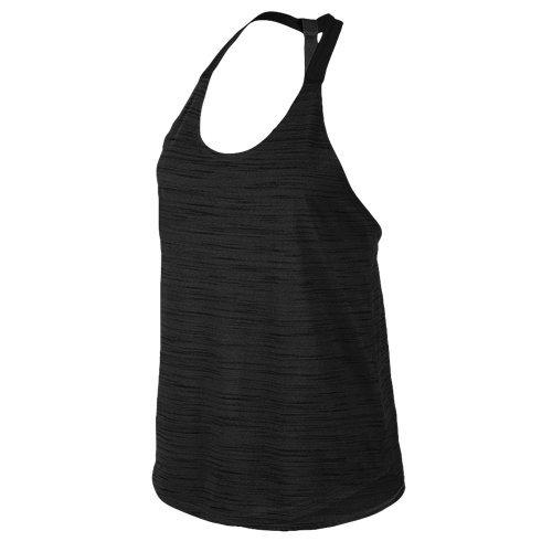 Nike Elastika Heathered Tank, antraciet / zwart, L - Womens Fit Nike Shirt Dri