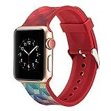 Für Apple Watch Series 4 Ersatzarmband, Purple Angel Weich Silikon Armband Smartwatch Sport Band Uhrenarmband Ersetzerband Armbanduhr Replacement Straps mit Magnetverschluss Bänder für Apple iWatch 40mm & 38mm Series 4/3/2/1, Nike+, Sport, Edition