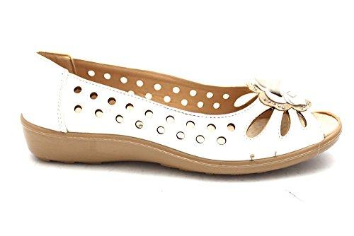 Mr Shoes , Ballerines pour femme Blanc Cassé Bianco Blanc Cassé - Bianco (bianco)