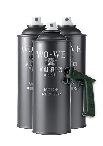 7,49€/L - 3x400ml Motorreiniger mit Spraydosengriff