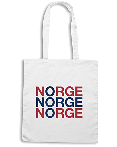 T-Shirtshock - Borsa Shopping WC0525 NORWAY Bianco