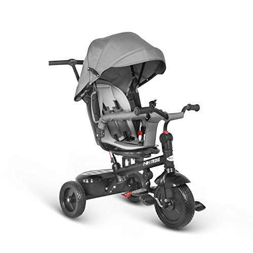 aa1d9c794b Besrey 7 in 1 Triciclo passegino per bambini Triciclo con maniglione Triciclo  a spinta Bicicletta con seggiolino reversibile parasole 6 mesi a 6 anni