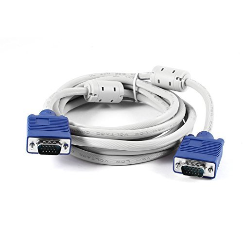 10FT 15 PIN SVGA Super VGA-monitor Male naar Male kabel voor PC Projector -