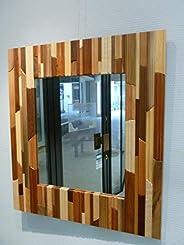 Miroir multibois, décoration design