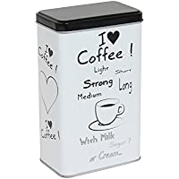 Novastyl 8011685grafite Scatola a caffè acciaio bianco
