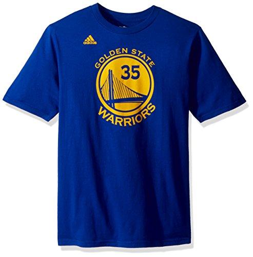 adidas Kevin Durant Golden State Warriors # 35NBA Jungen Name und Nummer Jersey T-Shirt, blau (State T-shirt Youth)