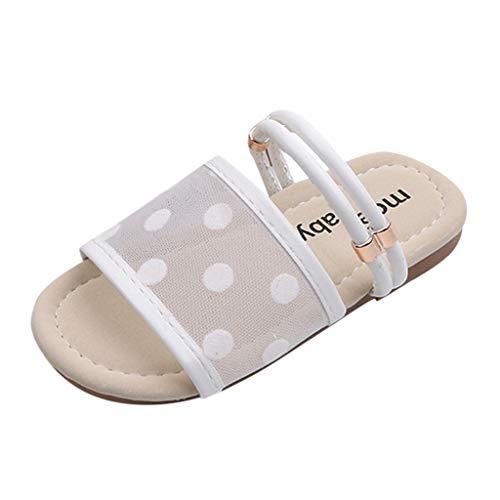 Alaso Chaussures Bébé Sabot Et Mules - Pantofole da spiaggia per bambini, unisex, antiscivolo, estivi, piscina, giardino bianco 30 cm