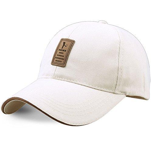 Lendoo sportivo da uomo berretto da baseball con logo ediko Golf Pure Color cotone cappelli di snapback Beige Taglia unica