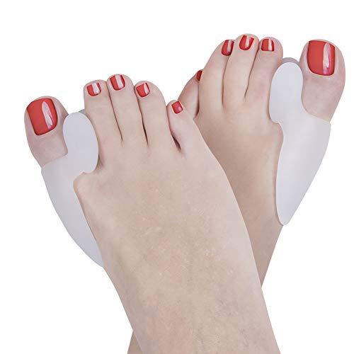 Tutore alluce valgo di nuova generazione in silicone morbido, 2 pezzi, raddrizza pollice piede, protezione e rimedi per donna uomo e bambini - certificato