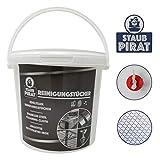 Staub Pirat Feuchte Edelstahl Reinigungstücher - für alle Edelstahl Oberflächen in Küchen, Edelstahlgeländer, sämtliche Metalloberflächen im Gewerbe wie zu Hause -...
