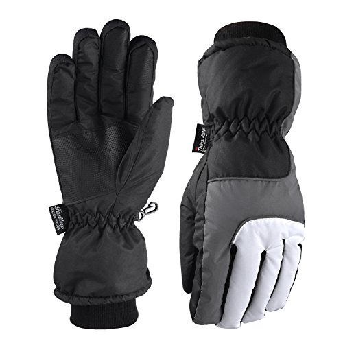 Fazitrip 3M Thinsulate Touch Screen Handschuhe, winddichte & wasserdichte Handschuhe Damen, Funktion als Ski Handschuhe, Radfahren Handschuhe, Laufschuhe oder andere Sporthandschuhe im Winter (S)