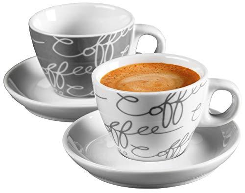 Ritzenhoff & Breker Espresso-Set Cornello, 4-teilig, Grau, 80ml