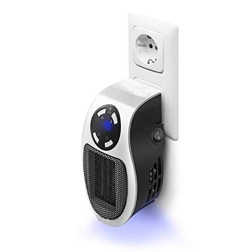 Calentadores,Mini Heater Estufa Eléctrica,Portatil Calentador 500 W con Termostato Ajustable Tiempo Programable...