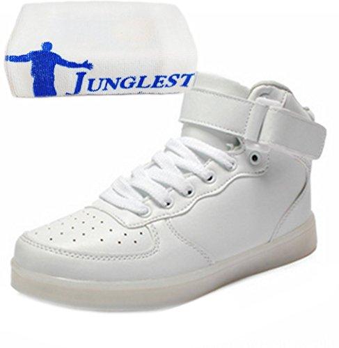Sneaker Weiß Led Leuchtend Mode Outdoorschuhe present Aufladen junglest® Farbe Handtuch Wechseln Laufschuhe Freizeitschuhe Schuhe Sportschuhe 7 kleines Fü licht Usb wBTHw8