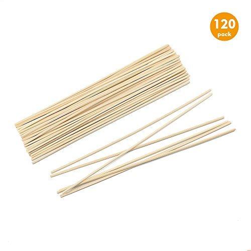 Esnow 120 Stück Natürlicher Fasern Rattanstäbchen Reed Diffusor Stöcke Holz Rattan Reed Sticks ätherisches Öl Aroma Diffusor Stöcke Raumduftspender Ersatz