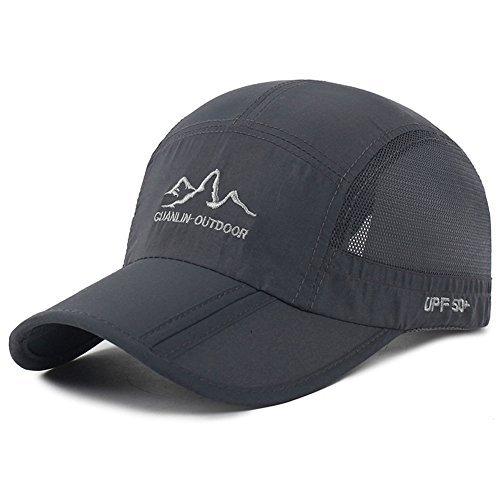 Estwell Sport Trucker Cap Baseballmütze Hut Faltbarer Verstellbar UV Schutz Basecap Baseball Kappe für Damen und Herren