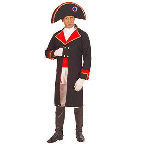 Napoleon Kostüm - Widmann 57882 - Erwachsenenkostüm Napoleon, Jacke mit Jabot, Hose, Gürtel, Stiefelüberzieher und Hut, Größe M