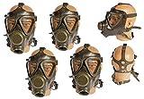 Unbekannt 4 Stück Bundeswehr Schutzmaske Gasmaske M65 gebraucht Gasmaske ABC-Ausrüstung