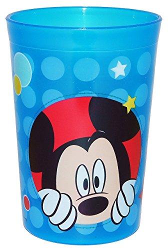 """"""" Disney Mickey Mouse """" - 3 in 1 - Trinkbecher / Zahnputzbecher / Malbecher - Becher durchsichtig & transparent - Trinkglas aus Kunststoff Plastik - Mädchen & Jungen - Maus für Kinder - Kindergeschirr - Kinderbecher / Kinderglas - Playhouse"""